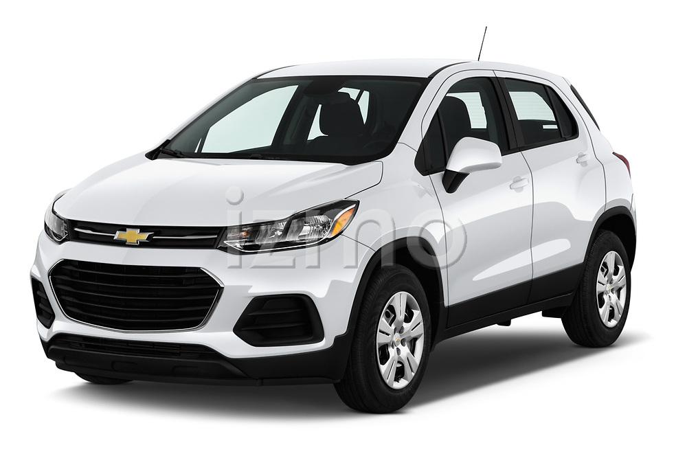 2020 Chevrolet Trax LS 5 Door SUV angular front stock photos of front three quarter view