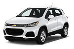 2020 Chevrolet Trax LS 5 Door SUV angular front stock photos of front three quarter view