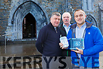Fr Kieran O'Brien, Denny Murphy and  Martin O'Grady who helped save a man who collapsed at mass in St Marys Cathedral