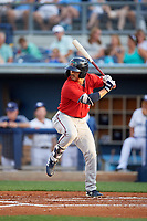 Fort Myers Miracle Mark Contreras (5) at bat during a Florida State League game against the Charlotte Stone Crabs on April 6, 2019 at Charlotte Sports Park in Port Charlotte, Florida.  Fort Myers defeated Charlotte 7-4.  (Mike Janes/Four Seam Images)
