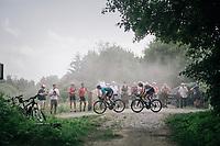 race leaders Sean de Bie (BEL/Verandas Willems-Crelan) &amp; eventual winner Krists Neilands (LAT/Israel Cycling Academy)<br /> <br /> 3rd Dwars Door Het hageland 2018 (BEL)<br /> 1 day race:  Aarschot &gt; Diest: 198km