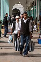 Tripoli, Libya - Men Shoppers, Rashid Street Market.