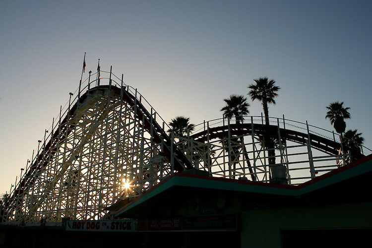 May 21, 2007; Santa Cruz, CA, USA; A roller coaster at the Santa Cruz Beach Boardwalk in Santa Cruz, CA. Photo by: Phillip Carter