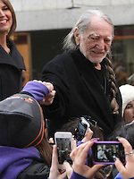 NEW YORK, NY - NOVEMBER 20: Willie Nelson on NBC's Today Show at Rockefeller Center in New York City. November 20, 2012. Credit: RW/MediaPunch Inc. /NortePhoto