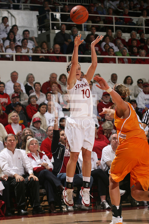 STANFORD, CA - DECEMBER 19:  JJ Hones of the Stanford Cardinal during Stanford's 67-52 win over the Tennessee Lady Volunteers on December 19, 2009 at Maples Pavilion in Stanford, California.