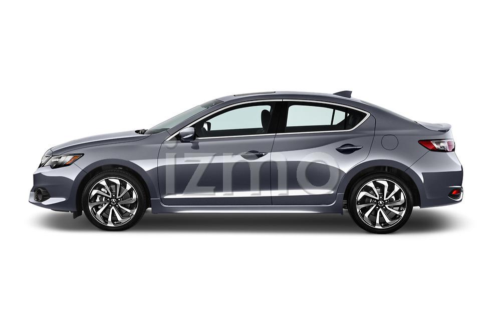 Car driver side profile view of a 2016-2017 Acura ilx Tech Plus A Spec 4 Door Sedan