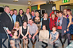 40th Birthday Party : Jeremiah McCarthy, Moyvane, centre front celebrating his 40th birthday with family & friends at the Saddle Bar in Listowel on Saturday night last.