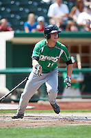 Dayton Dragons outfielder Kyle Waldrop #15 during a Midwest League game against the Fort Wayne TinCaps at Parkview Field on August 19, 2012 in Fort Wayne, Indiana.  Dayton defeated Fort Wayne 5-1.  (Mike Janes/Four Seam Images)
