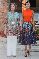 MADRID, SPAIN &ndash; AUGUST 03: Queen Letizia, Queen Sofia and King Felipe attend the authorities dinner at Almudaina palace in Palma de Mallorca, Spain on the 3rd of August of 2018.  ***NO SPAIN***<br /> CAP/MPI/RJO<br /> &copy;RJO/MPI/Capital Pictures