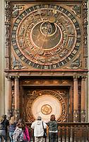 Astronomische Uhrvon Hans Düringer (1472) in der Marienkirche in Rostock, Mecklenburg-Vorpommern, Deutschland