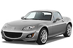 Front three quarter view of a 2010 Mazda Miata MX5.