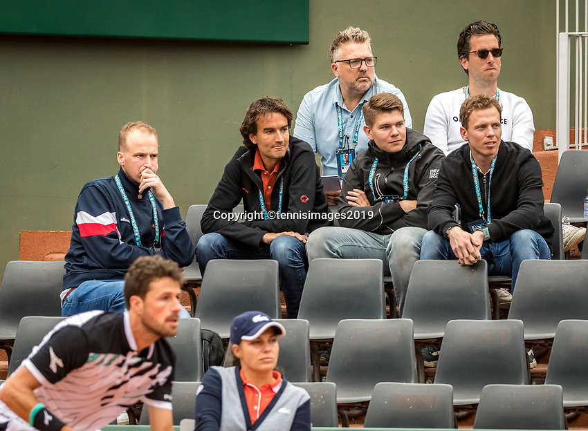 Paris, France, 26 May, 2019, Tennis, French Open, Roland Garros, Dutch press watching Robin Haase (NED)<br /> Photo: Henk Koster/tennisimages.com