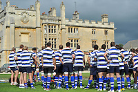 The squad gather together prior to the start of the training session. Bath Rugby training session on August 2, 2011 at Farleigh House in Bath, England. Photo by: Patrick Khachfe/Onside Images