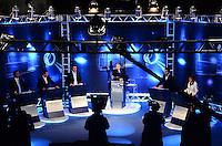 ATENCAO EDITOR: FOTO EMBARGADA PARA VEICULOS INTERNACIONAIS. - RIO DE JANEIRO, RJ, 05 DE SETEMBRO 2012 - ELEICOES 2012-DEBATE REDE TV -Debate eleitoral com os candidatos a Prefeito do Rio de Janeiro no Clube Monte Líbano, na Gavea, na zona sul do Rio de Janeiro.(FOTO: MARCELO FONSECA / BRAZIL PHOTO PRESS).