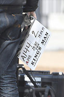 Clapperboard<br /> 'Kingsman: The Great Game' filming on location in Belgravia, London England on April 14, 2019<br /> CAP/IH<br /> &copy;Ivan Harris/Capital Pictures