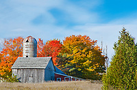 A barn sits quietly in the autumn season, Door County, Wisconsin