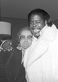 Elton John &amp; Barry White, Narm Convention, Century Plaza Hotel, Los Angeles, CA  1975<br /> Photo Credit: James Fortune/AtlasIcons.com