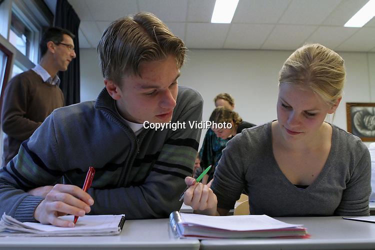 Foto: VidiPhoto..AMERSFOORT - Cursisten Evangelische Hogeschool Amersfoort.