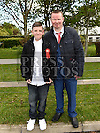 Ben Russell Meade who was confirmed in the Holy Family church Ballsgrove pictured with his dad Joseph