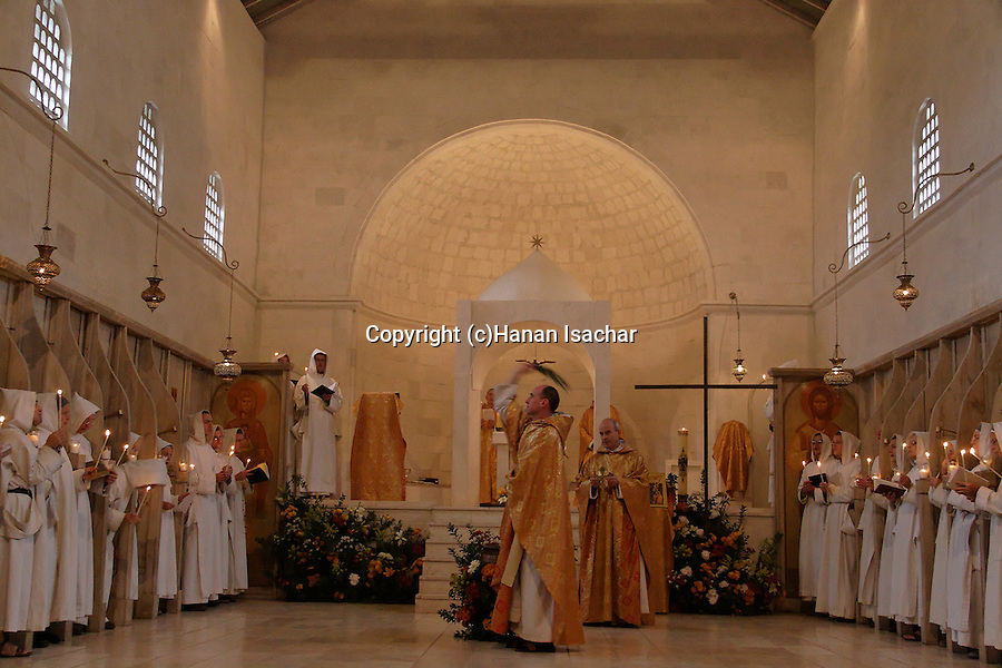 &quot;Le Bapteme du Christ&quot; holiday at the Monastery of the Sisters of Bethlehem of the Assumption of the Virgin and of Saint Bruno in Beth Gemal, Israel<br />