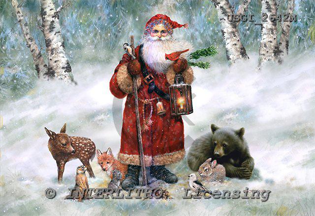GIORDANO, CHRISTMAS SANTA, SNOWMAN, WEIHNACHTSMÄNNER, SCHNEEMÄNNER, PAPÁ NOEL, MUÑECOS DE NIEVE, nostalgic, paintings+++++,USGI2642M,#X# nostalgic,vintage