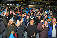 Jaguares fans celebrate victory after the Super Rugby match between the Blues and Jaguares at Eden Park in Auckland, New Zealand on Friday, 28 April 2018. Photo: Dave Lintott / lintottphoto.co.nz