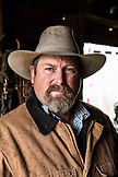 USA, Oregon, Enterprise, Portrait of Cowboy and Rancher Todd Nash at the Snyder Ranch in North East Oregon between Enterprise and Joseph