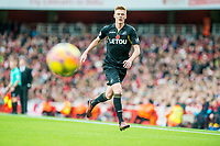 Sam Clucas of Swansea City  chases the ball during the Premier League match between Arsenal and Swansea City at Emirates stadium, London, England, UK. Saturday 28 October 2017