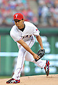 Yu Darvish (Rangers),<br /> MAY 21, 2013 - MLB :<br /> Yu Darvish of the Texas Rangers pitches during the Major League Baseball game against the Oakland Athletics at Rangers Ballpark in Arlington in Arlington, Texas, United States. (Photo by AFLO)