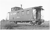Long caboose #0503.<br /> D&amp;RGW  Chama, NM  Taken by Richardson, Robert W. - 9/14/1946