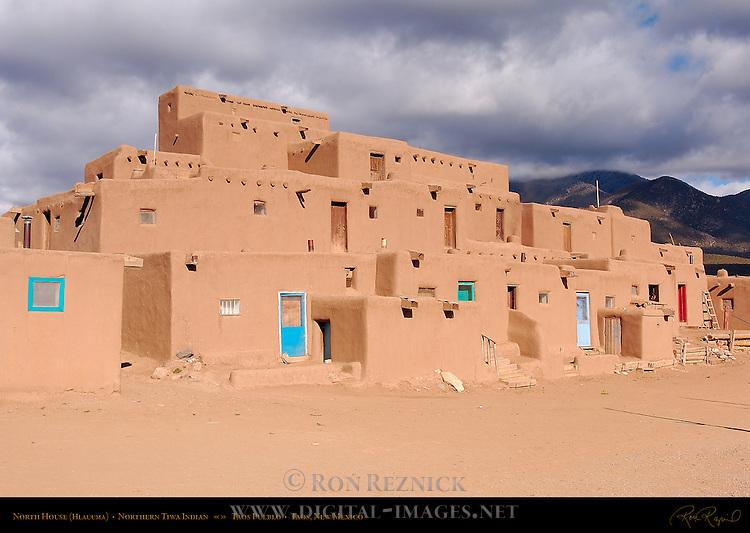 North House Hlauuma, Northern Tiwa Indian, Taos Pueblo, Taos, New Mexico