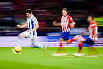 Igor Zubeldia of Real Sociedad (L) runs with the ball during the La Liga 2018-19 match between Atletico de Madrid and Real Sociedad at Wanda Metropolitano on October 27 2018 in Madrid, Spain.  Photo by Diego Souto / Power Sport Images