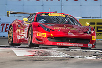 Olivier Beretta, #61 Ferrari 458 GT3 Italia, Pirelli World challenge race, Long Beach Grand Prix, Long Beach, CA, April 2015.  (Photo by Brian Cleary/ www.bcpix.com )