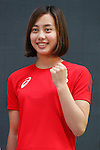 Runa Imai (JPN), MAY 26, 2016 - : A press conference about presentation of Japan national team official sportswear for Rio de Janeiro Olympics 2016 in Tokyo, Japan. (Photo by Sho Tamura/AFLO SPORT)