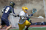 San Diego, CA 05/25/13 - Thomas Akerson (Del Norte #9) and Matsuo Chino (Parker #15) in action during the CIF San Diego Section Boys Division 2 Lacrosse Championship game.  Parker defeated Del Norte 12-4 for the 2013 title.
