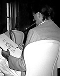 Aritst LeRoy Neiman .(Sketching/Drawing Paul Newman).attending the Caesars Palace Grand Prix Press Conf. at the Plaza Hotel in New York City..06/01/1981.© Walter McBride