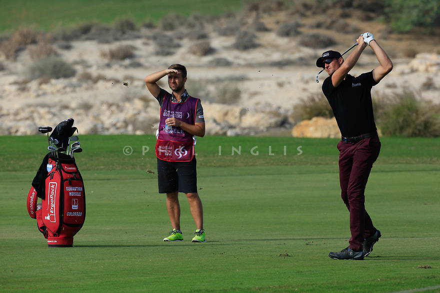 Sebastian Heisele (GER) during the second round of the Commercial Bank Qatar Masters played at Doha Golf Club, Qatar. 23/02/2018<br /> Picture: Golffile | Phil Inglis<br /> <br /> <br /> All photo usage must carry mandatory copyright credit (&copy; Golffile | Phil Inglis)
