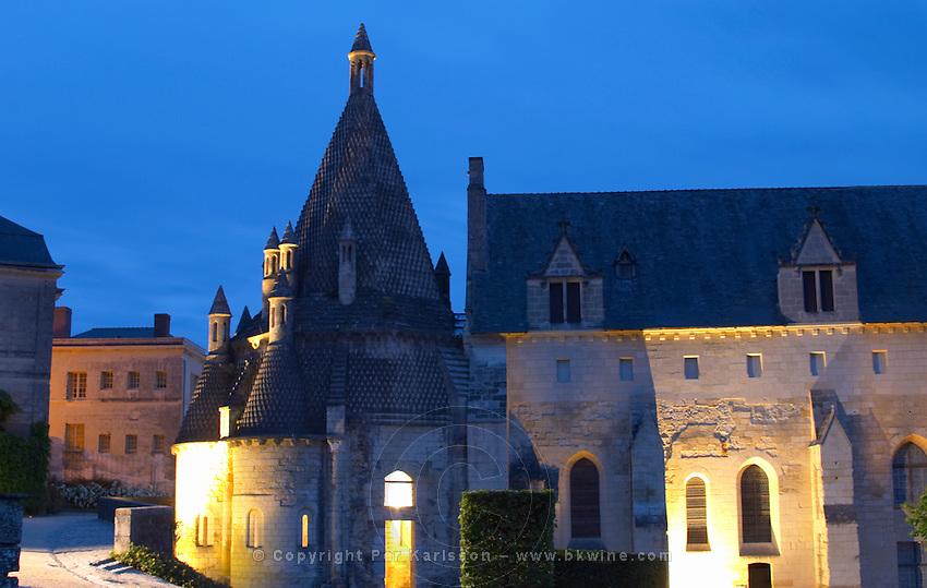 The abbey kitchen. Abbaye Royale de Fontevraud abbey, Loire, France