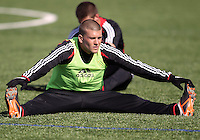 WASHINGTON, DC - February 06, 2012: Ryan Richter of DC United during a pre-season practice session at Long Bridge Park, in Arlington, Virginia on February 6, 2013.