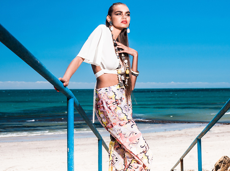 Fashin with Mirella Crop top, Model Sedale Meller from Prides Models at Glenelg North.