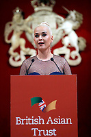04/02/2020 - Katy Perry gives a speech during a reception for supporters of the British Asian Trust in London. Photo Credit: ALPR/AdMedia