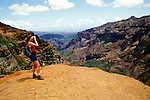 Hawaii: Kauai, Waimea Canyon views.  Photo hifree109.Photo copyright Lee Foster, 510/549-2202, lee@fostertravel.com, www.fostertravel.com