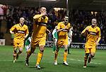 Michael Higdon celebrates his overhead kick goal