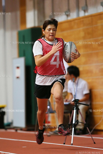 Mizuno Hagiwara, <br /> SEPTEMBER 14, 2013 : <br /> National talent identification and development project <br /> First shot &quot;Tall x Speed x Women&quot; <br /> at JISS, Tokyo, Japan. <br /> (Photo by YUTAKA/AFLO SPORT) [1040]