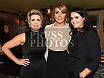 Lorraine Murray, Paula McDermott and Charlene McMahon from Touch and Glow at the Ardee Traders Dinner in Muldoons. Photo:Colin Bell/pressphotos.ie