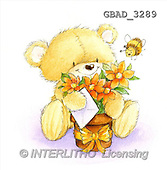 Addy, CUTE ANIMALS, paintings, bear, letter, bee(GBAD3289,#AC#)