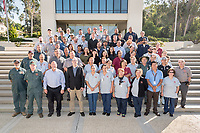 Occidental College's Facilities Department group photo, Oct. 4, 2017 between Johnson and Fowler Halls.<br /> (Photo by Marc Campos, Occidental College Photographer)