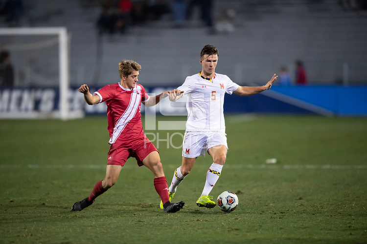 Santa Barbara, CA - Friday, December 7, 2018:  Maryland men's soccer defeated Indiana 2-0 in a semi-final match in the 2018 College Cup.  Eric Matzelevich.