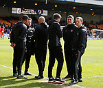 Backroom and coaching staff during the English League One match at Vale Park Stadium, Port Vale. Picture date: April 14th 2017. Pic credit should read: Simon Bellis/Sportimage