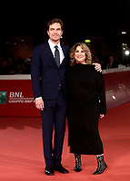"L'attore statunitense Michael Shannon posa con la regista Jennifer Lebeau sul red carpet per la presentazione del film ""Trouble No More"" durante la Festa del Cinema di Roma, 2 novembre 2017.<br /> US actor Michael Shannon poses with director Jennifer Lebeau on the red carpet to present the movie ""Trouble No More"" during the international Rome Film Festival at Rome's Auditorium, November 2, 2017.<br /> UPDATE IMAGES PRESS/Isabella Bonotto"